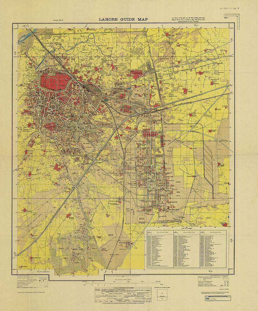 Lahore Guide Map